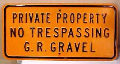 Sign, Grand Rapids Gravel