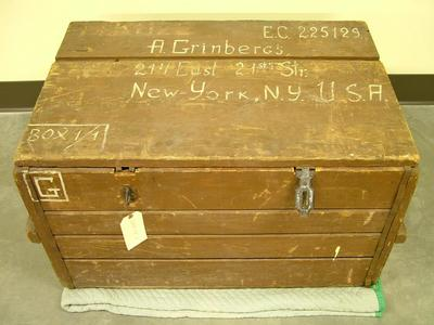 Trunk, Latvian Immigrant, A. Grinbergs