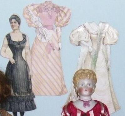 Paper Doll, Fashion Doll And 2 Outfits