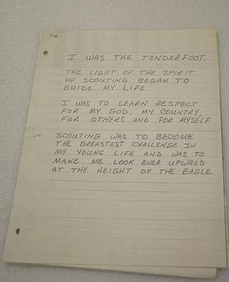 Copy Of Scouting Essay, Eagle Scout Application For Roger B Chaffee, Roger B. Chaffee Archival Collection #6