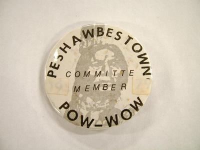 Pin-back Button, Peshawbestown Pow-wow Committee Member
