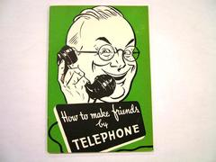 Booklet, How To Make Friends By Telephone