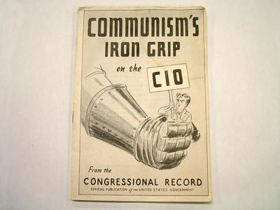 Booklet, Communism's  Iron Grip On The Cio