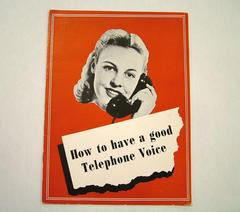 Booklet, How To Have A Good Telephone Voice