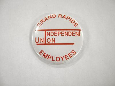 Pin-back Button, Grand Rapids Employees Independent Union