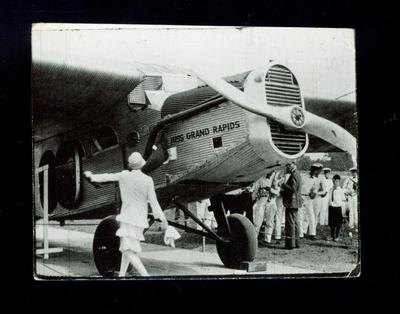 Photograph, Miss Grand Rapids Airplane