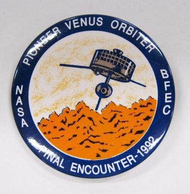 Promotional Button, Pioneer Venus Orbiter