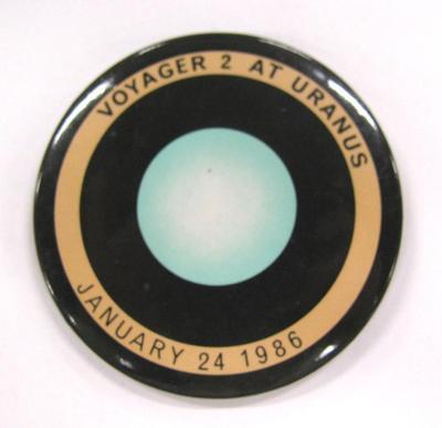 Promotional Button, Voyager 2 At Uranus