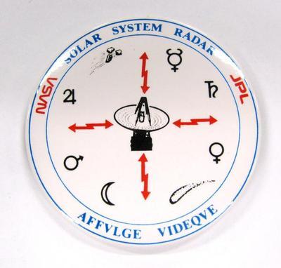 Promotional Button, Solar System Radar