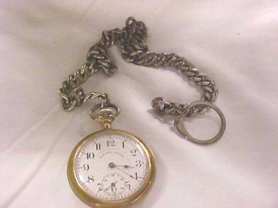 Man's Pocket Watch With Chain Fob, Time Ball Special