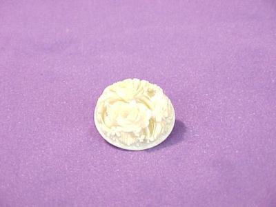 Button, Carved Floral Design