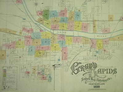 Map, 'seys' Numbre Map Of The City Of Grand Rapids, Michigan And Environs, 1912'
