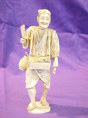 Carved Ivory Figure, 'the Doctor'
