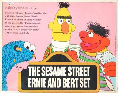 Colorforms, The Sesame Street Ernie And Bert Set