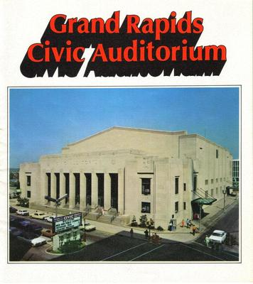 Brochure, 'grand Rapids Civic Auditorium'