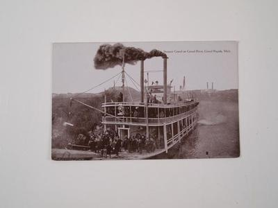 Postcard, 'steamer Grand On Grand River'