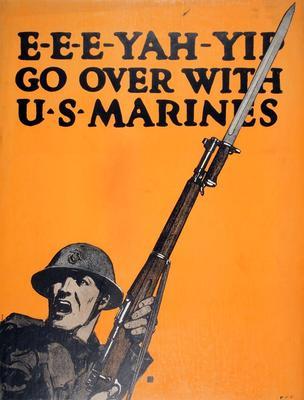 Poster, E-E-E-Yah-Yip, Go Over With U. S. Marines