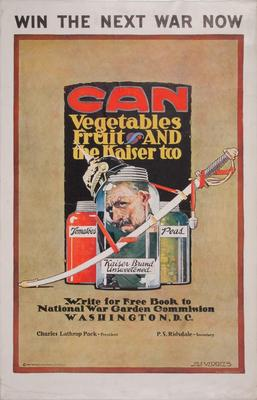 Poster, Can Vegetables, Fruit And The Kaiser Too