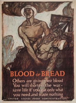 Poster, World War I, Blood Or Bread