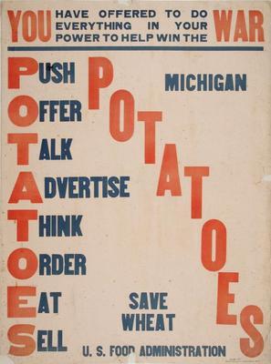 Poster, Potatoes Save Wheat