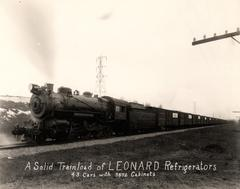 Photograph, Pennsylvania Railroad, Engine #8983, Pulling Cargo Of Leonard Refrigerators