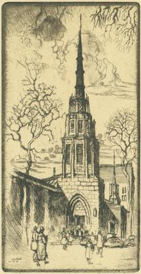 Print, 'la Grave Tower - State I' (new Lagrave Church)