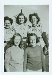 Photograph, Reprint, 5 Grand Rapids Chicks Players, All-American Girls Baseball League Archival Collection #66