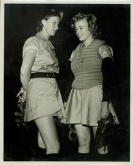 Photograph, Grand Rapids Chicks Connie Wisniewski And Ruth Lessing, All-American Girls Baseball League Archival Collection #66