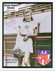 Photograph, Autographed, 'Teeny' Petras, Grand Rapids Chick,  All-American Girls Baseball League Archival Collection #66