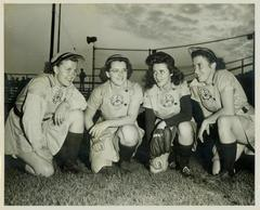 Photograph, Grand Rapids Chicks Infielders, All-American Girls Baseball League Archival Collection #66