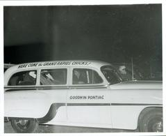 Photograph, Here Come The Grand Rapids Chicks Car, All-American Girls Baseball League Archival Collection #66