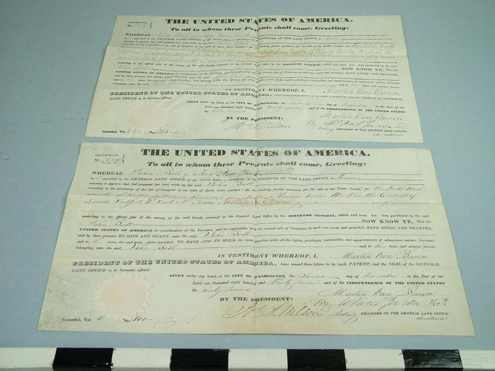 Land Contracts, John Ball, 2, Ball Family Archival Collection #154