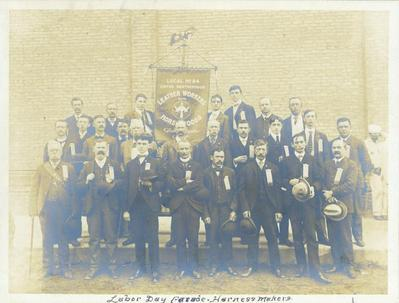 Photograph, United Brotherhood of Leather Workers on Horse Goods