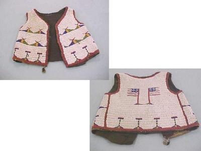 Child's Beaded Vest, Sioux