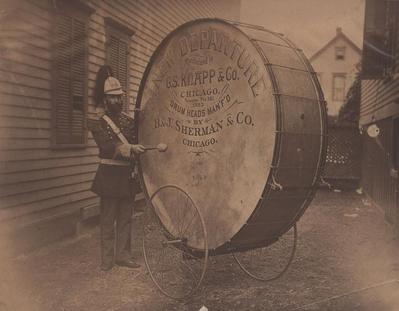 Photograph, Man with Drum