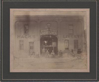 Photograph, George Egeler Livery