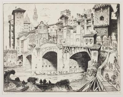 Print, 'Ponte Vecchio - State VII (Final; Edition State) 49/100' (7 Of 7)
