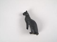 Seated Cat Figure, Bronze