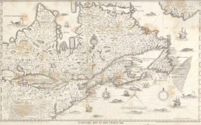 Map, Chaplain's Of New France, 1632