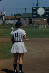 "Slide, Inez ""Lefty"" Voyce, All-American Girls Professional Baseball"