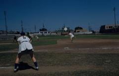 Slide, Jaynne Bittner Coaching First Base, All-American Girls Professional Baseball