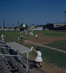 Slide, Teams Leave the Field,  All-American Girls Professional Baseball