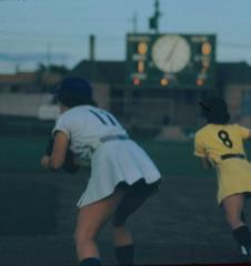 Slide, Dorice Reid on First Base, All-American Girls Professional Baseball