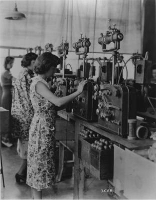 Photograph, Women Operating Sewing Machines