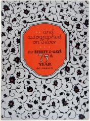Brochure, And Autographed On Silver for Berkey And Gay's 75th Year