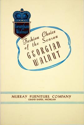 Booklet, Fashion Choice of the Season Georgian Walnut