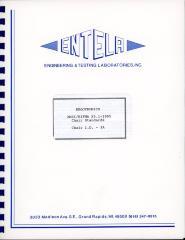 Booklet, ENTELA Ergotronics, ANSI/BIFMA Chair Standards