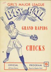 Program, AAGBBL Grand Rapids Chicks