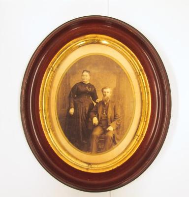 Studio Photograph of a Man and Woman