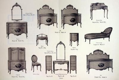 Autographed Suite Furniture Plate, Berkey & Gay Furniture Company, The Hervieu